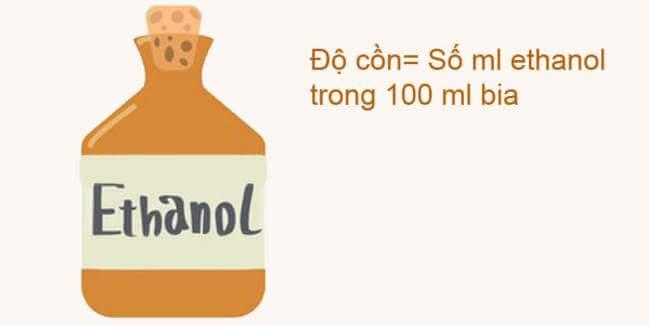 Ethanol là thành phần chính để làm đồ uống có cồn