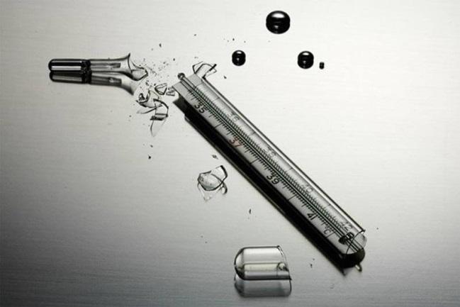Thủy ngân được sử dụng trongnhiệt kế