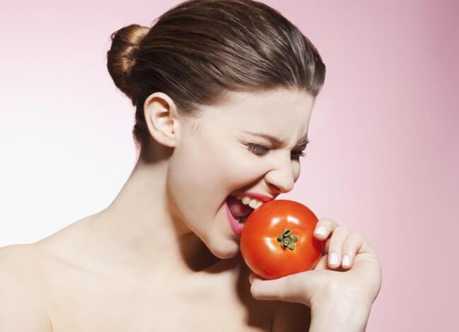 Cà chua giúp giảm quá trình láo hóa hiệu quả