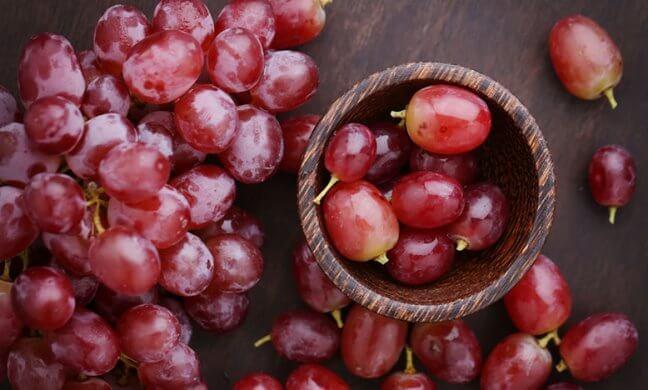 Nho chứa nhiều dinh dướng giúp bổ máu