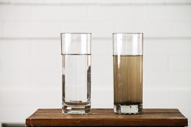 Nước máy nhà bạn bị đục và có cặn?