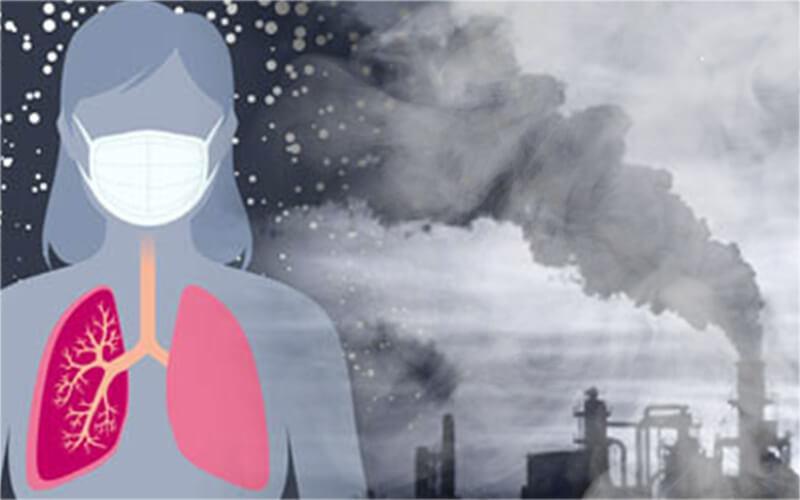 Đeo khẩu trang cũng là một biện pháp ngăn ngừa hậu quả của ô nhiễm không khí