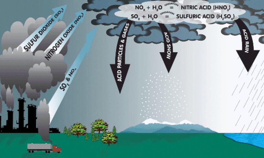 Mưa axit cũng là một trong những hậu quả của ô nhiễm không khí