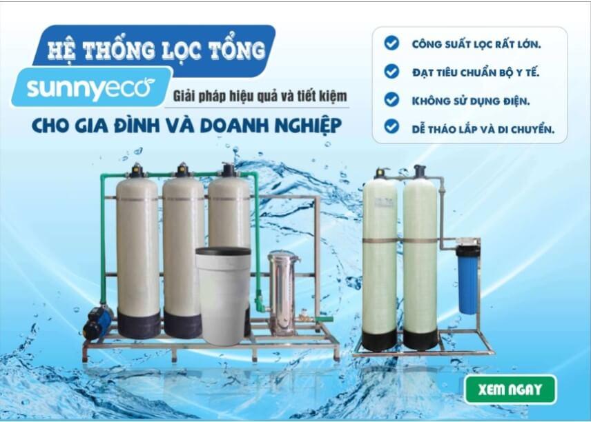 Hệ thống lọc tổng có thể xử lý nguồn nước bị ô nhiễm gấp 30 lần tiêu chuẩn cho phép