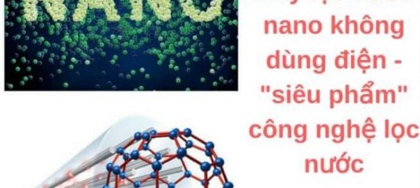 Máy lọc nước nano không cần sử dụng điện