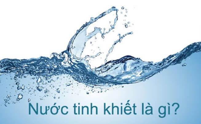 Nước tinh khiết có thực sự tốt